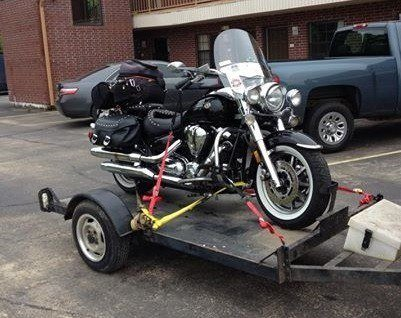 Motorcycle on Trailer